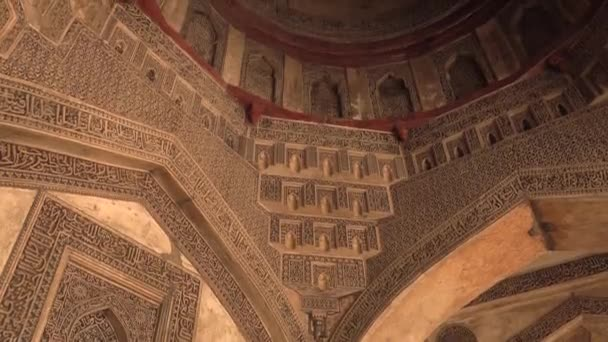 Sheesh Gumbad - tomb from the last lineage of the Lodhi garden - it is  situated in Lodi Gardens city park in Delhi, India, 4k footage video