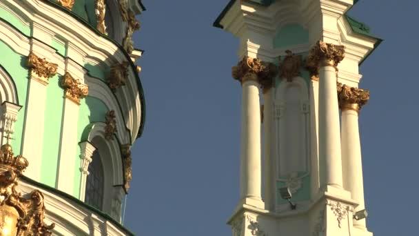wunderschöne kathedrale der heiligen andrähte in kiev, ukraine, 4k footage video
