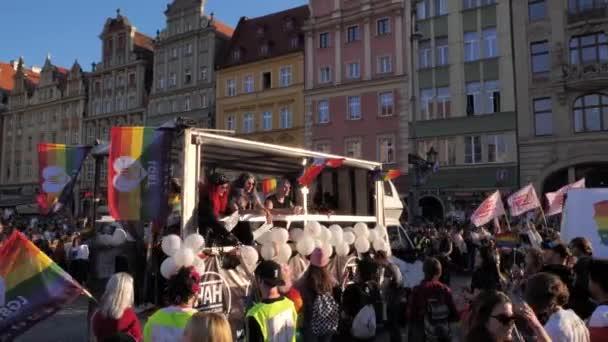Wroclaw Polsko 6.10.2018 březnu rovnosti. LGBTQ Gay Pride Parade