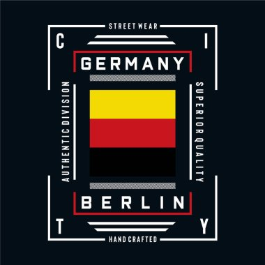 germany,berlin images typography vector illustration for t shirt