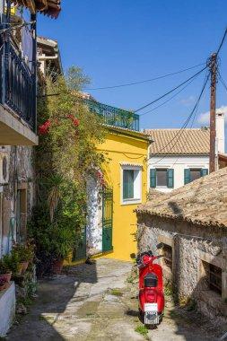 Walk the aisles Sinarades village on Corfu island