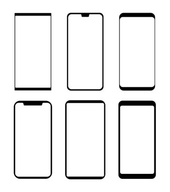 Smartphone silhouette in vector format