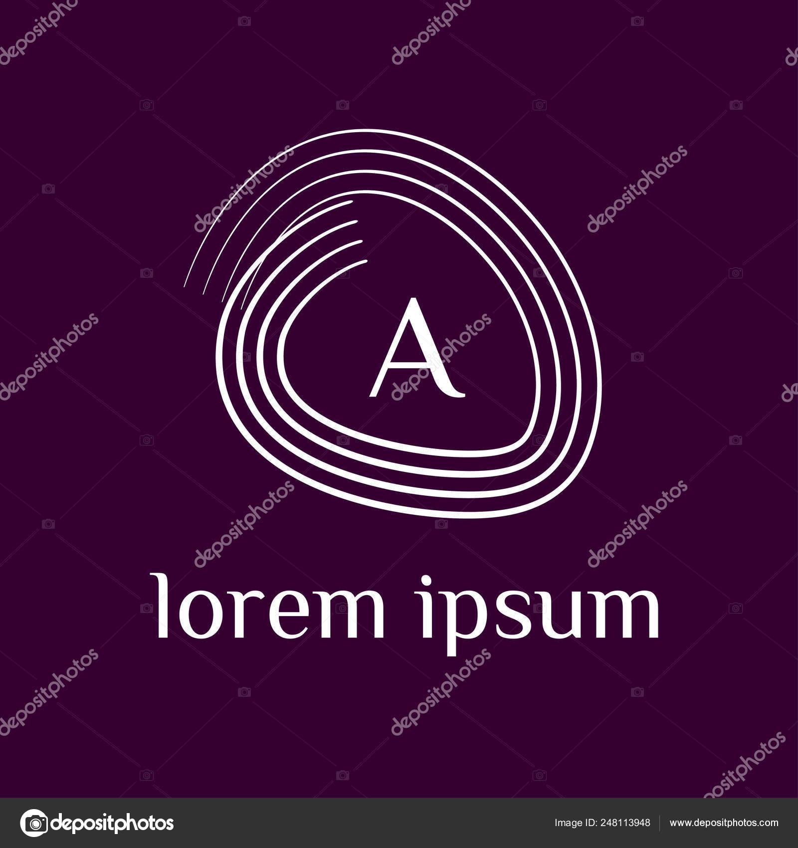 Logotipo Letra Vectorial Una Letra Del Alfabeto Estructura