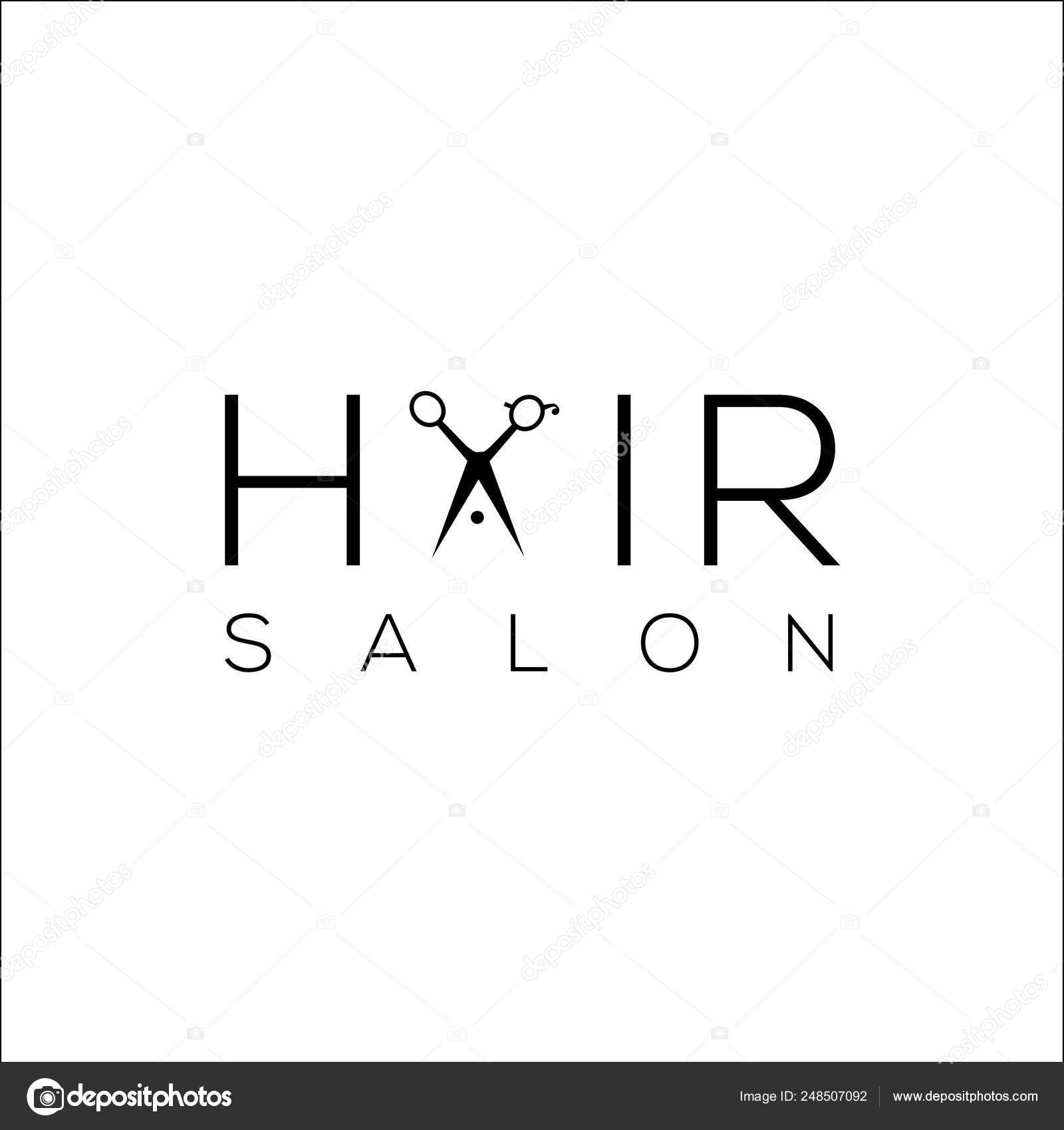 Hair Salon Logo Scissors Hair Salon Logo Scissors Scissors Vector Logo Design Template Vector Stock Vector C Lgn 248507092