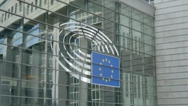 Logo on European Parliament Building