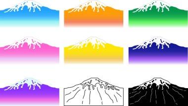 Background of Mount Fuji set