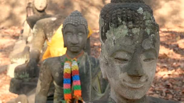 Uctívání Thajska, sochy Buddhy, historie Thajska, sochy Buddhy chrám provincie Chiang Mai. Historický park Chiangmai, Thajsko, Asie