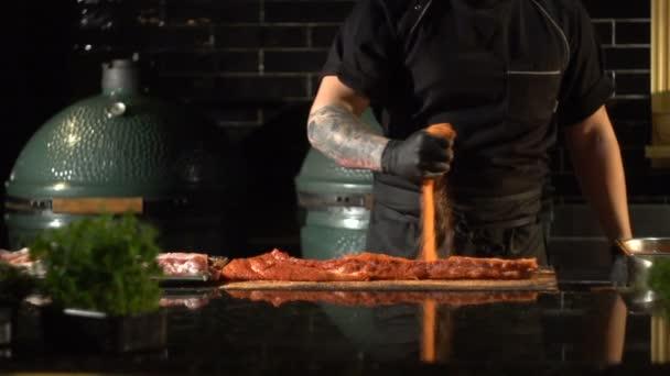 marinování pro gril, koření pro maso, masové smotky v koření