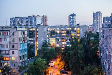 Kiev sleeping area, evening