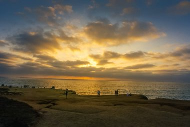 Sunset over the Sunset Cliffs Natural Park near La Jolla, San Di
