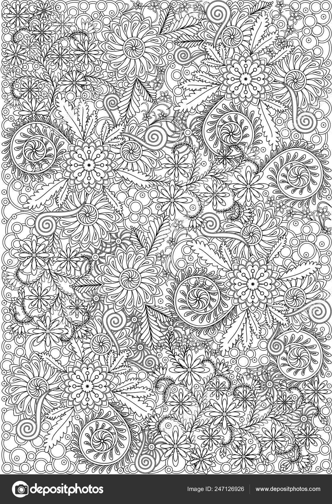 Nature Coloring Pages for Adults Pdf | Omalovánky, Kreslení, Vzory | 1700x1119