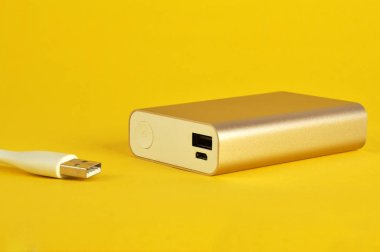 Portable powerbank with usb cable