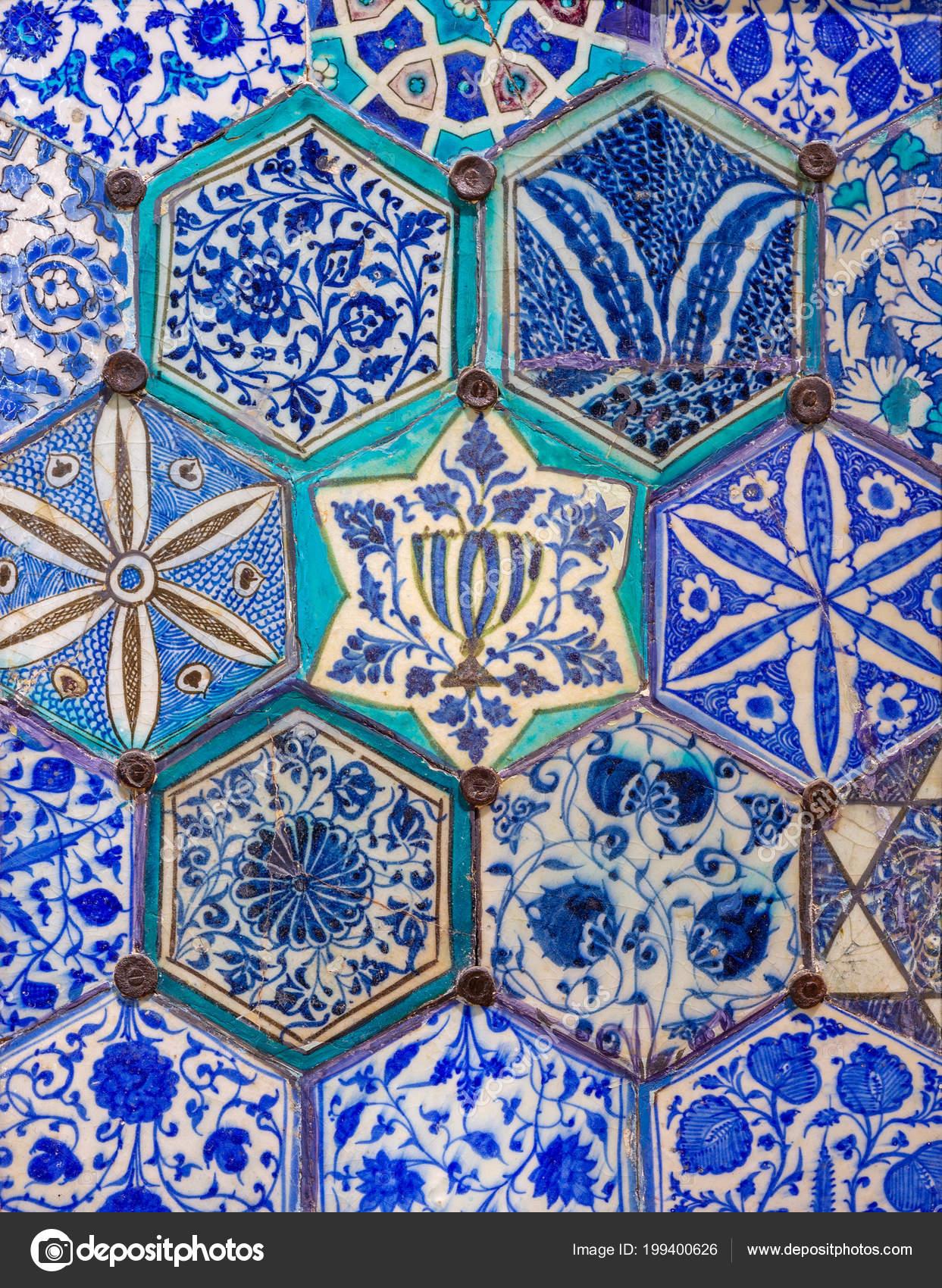 Piastrelle Di Ceramica Decorate.Epoca Mamelucca Smaltato Piastrelle Ceramica Decorate Con