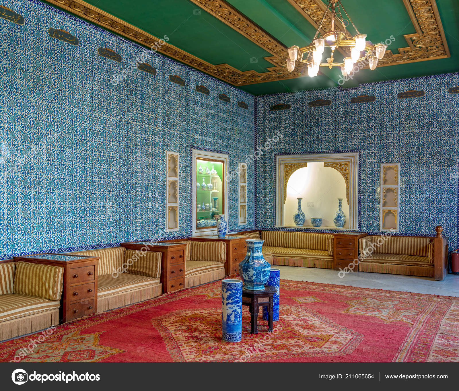 Cairo Egypt August 2018 Manial Palace Prince Mohammed Ali Blue