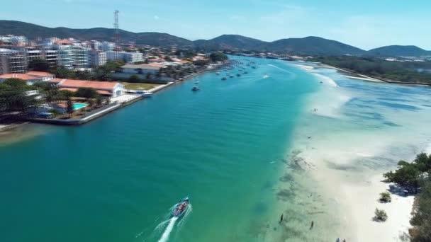 Aerial view of Japanese Island, Cabo Frio, Rio de Janeiro, Brazil. Great beach scene. Fantastic landscape. Vacation travel. Travel destination. Vacation concept. Summer.