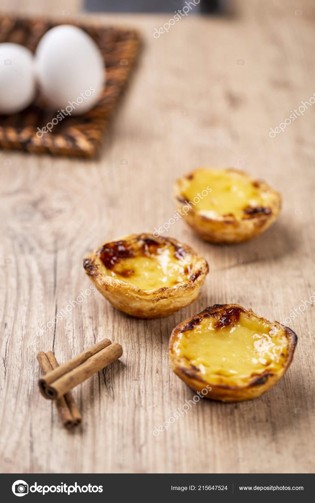 Typische Portugiesische Pudding Kuchen Pastel Nata Oder Pastel Belem