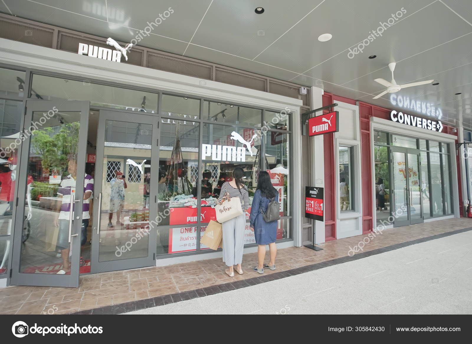 Puma and Converse Store in the new one