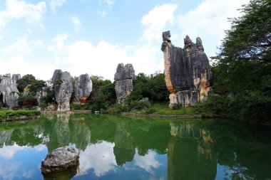 The Stone Forest landscape in Yunnan.