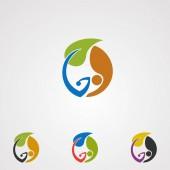 natürlicher alternativer Logo-Vektor, -Symbol, -Element und -Vorlage für Unternehmen