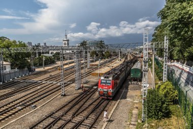 Sochi, Krasnodarskiy kray, Russia: Sochi is one of the largest railway stations of the Krasnodar region of the North Caucasus Railway, Train Station, Russian Railways