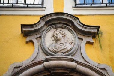 SALZBURG, AUSTRIA - OCTOBER 15, 2017: Bas-relief on building