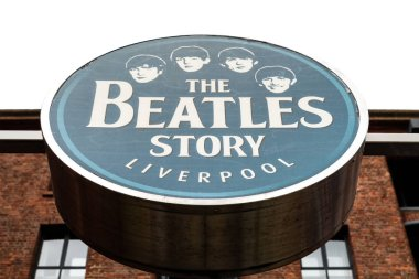 The Beatles story lettering in Liverpool, England