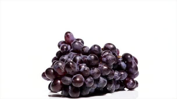 Grapes on a white table, rotation 360 degrees. White background.Ultra high definition 3840X2160.4K resolution