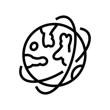 planet orbit line icon vector. planet orbit sign. isolated contour symbol black illustration