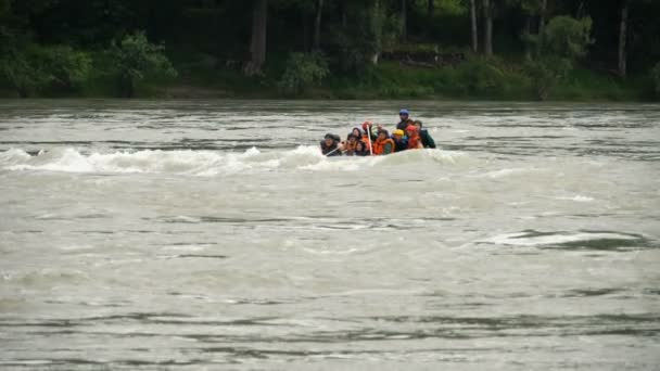 People rafting in a river
