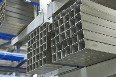 Metal steel profile . Industry production