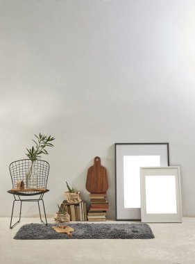 cream wall and decorative interior design , office or home
