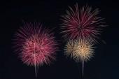 Színes tűzijáték a holiday este.