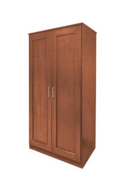 Wooden wardrobe isolated.