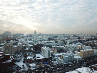 Moscow sity panorama copter