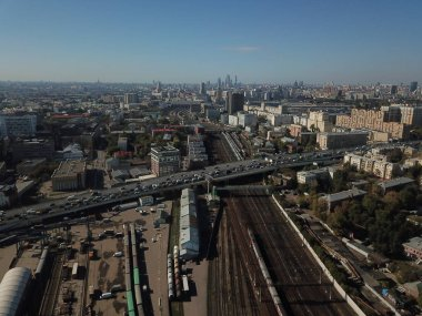 Sity panorama moscow sky view