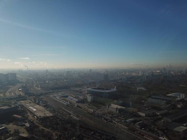 Copter Moscow sity view panorama