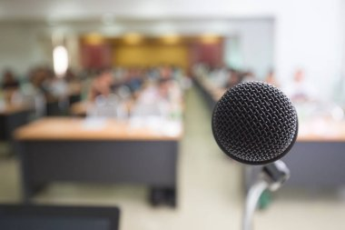 Microphone in conference room for seminar and education