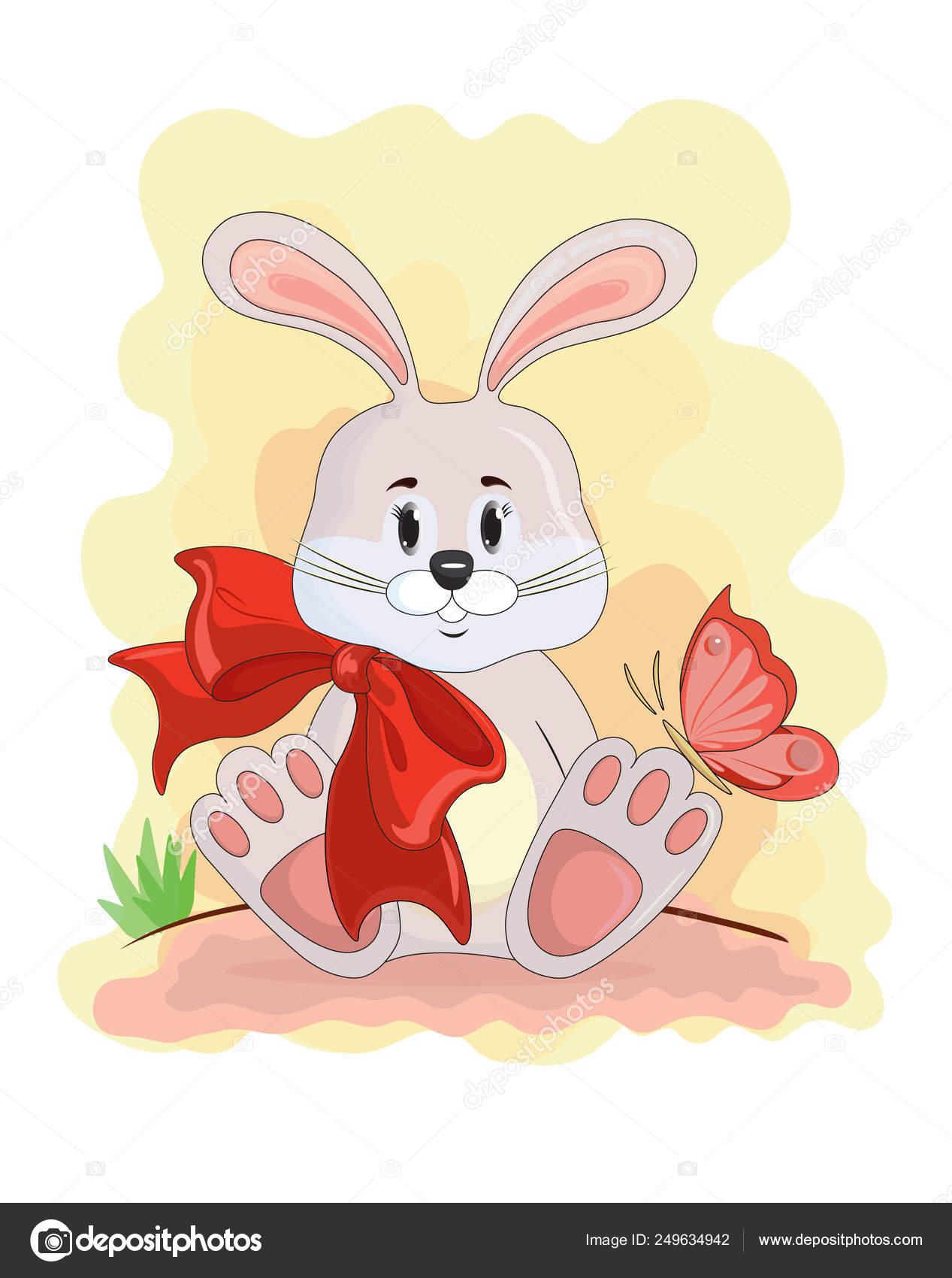 Mignon Lapin Dessin Anime Illustration Vectorielle Petit Lapin Image Vectorielle Kostenkoandrej30 Gmail Com C 249634942