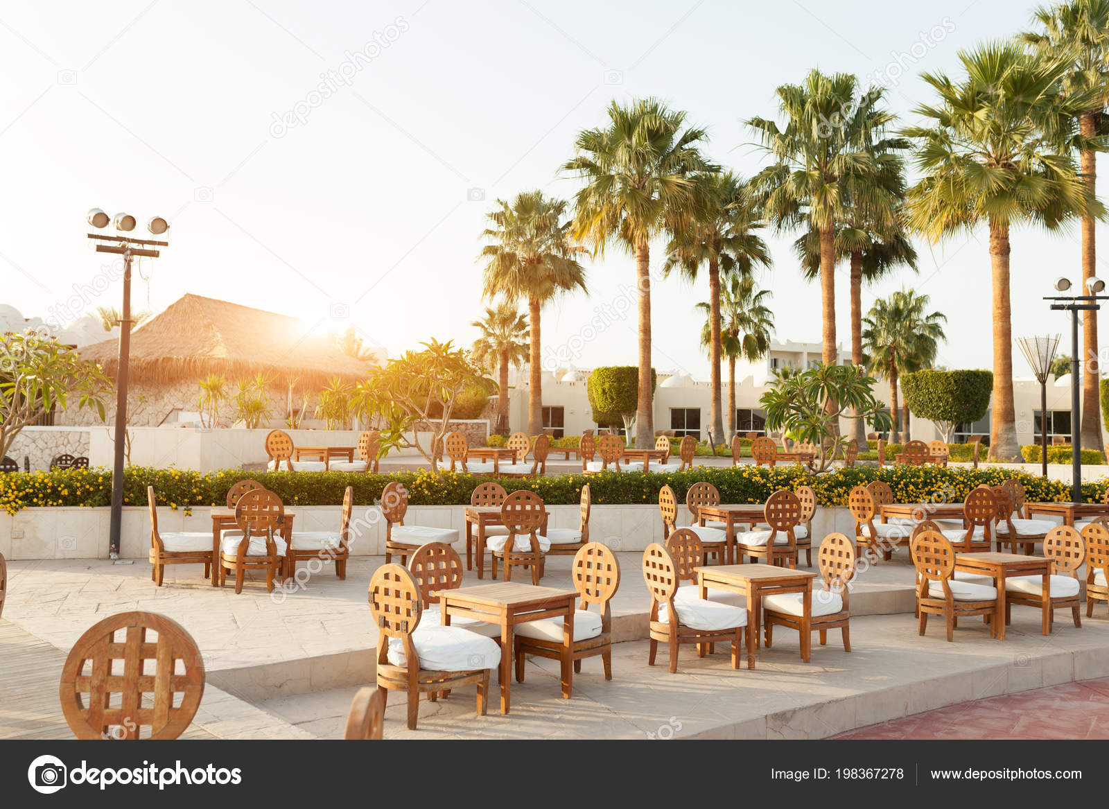 Outdoor Luxury Cafe Restaurant Tropical Country Palm Tree Summer Reef Stock Editorial Photo C Andreonegin 198367278