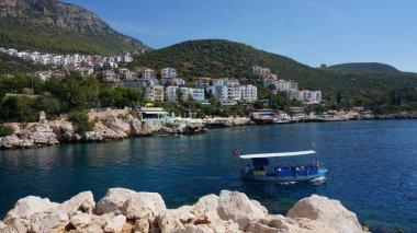 The harbour at Kas or Kash on the Mediterranean coast of Turkey