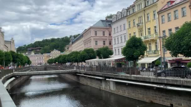 Karlovy Vary, řeka Teplá, Česká republika 25. července 2020