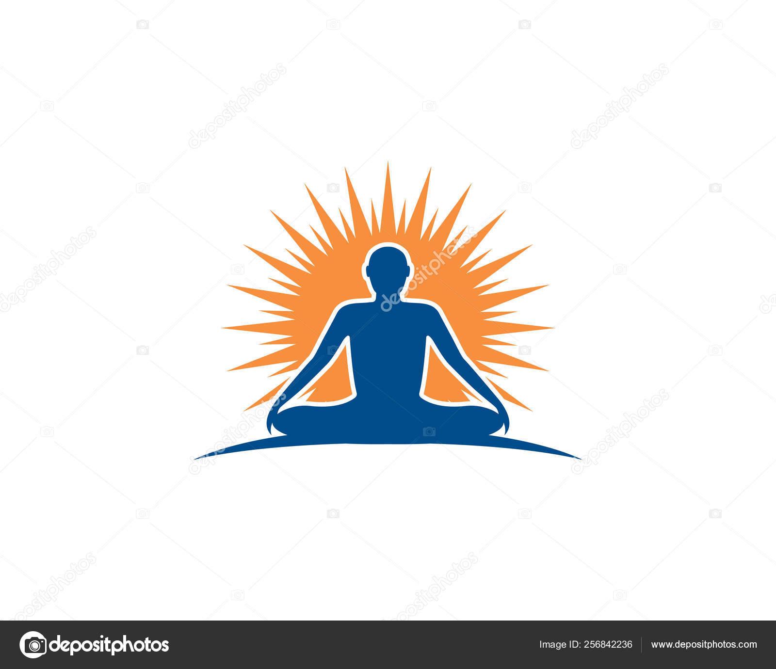Meditation Yoga Logo Template Vector Icon Stock Vector C Uminurwakhidah875 256842236