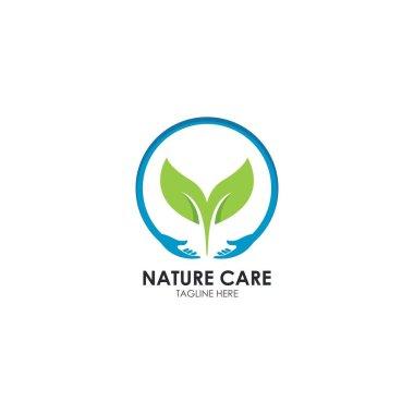 Nature care,back to nature logo vector icon illustration design icon