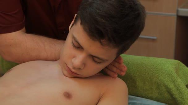 male masseur doing massage guy