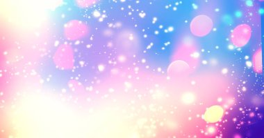 Magic glowing background with rainbow mesh. Fantasy unicorn grad