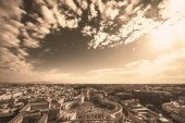 Fotografie Famous Saint Peters Square in Vatican and aerial view of Rome, Italy with buildings.