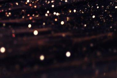 Black background with sparkling lights