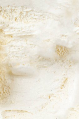 Vanilla ice cream as background. Macro. Summer abstract Background