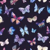 Aquarell Schmetterlinge Vintage nahtlose Muster, bunte Natur