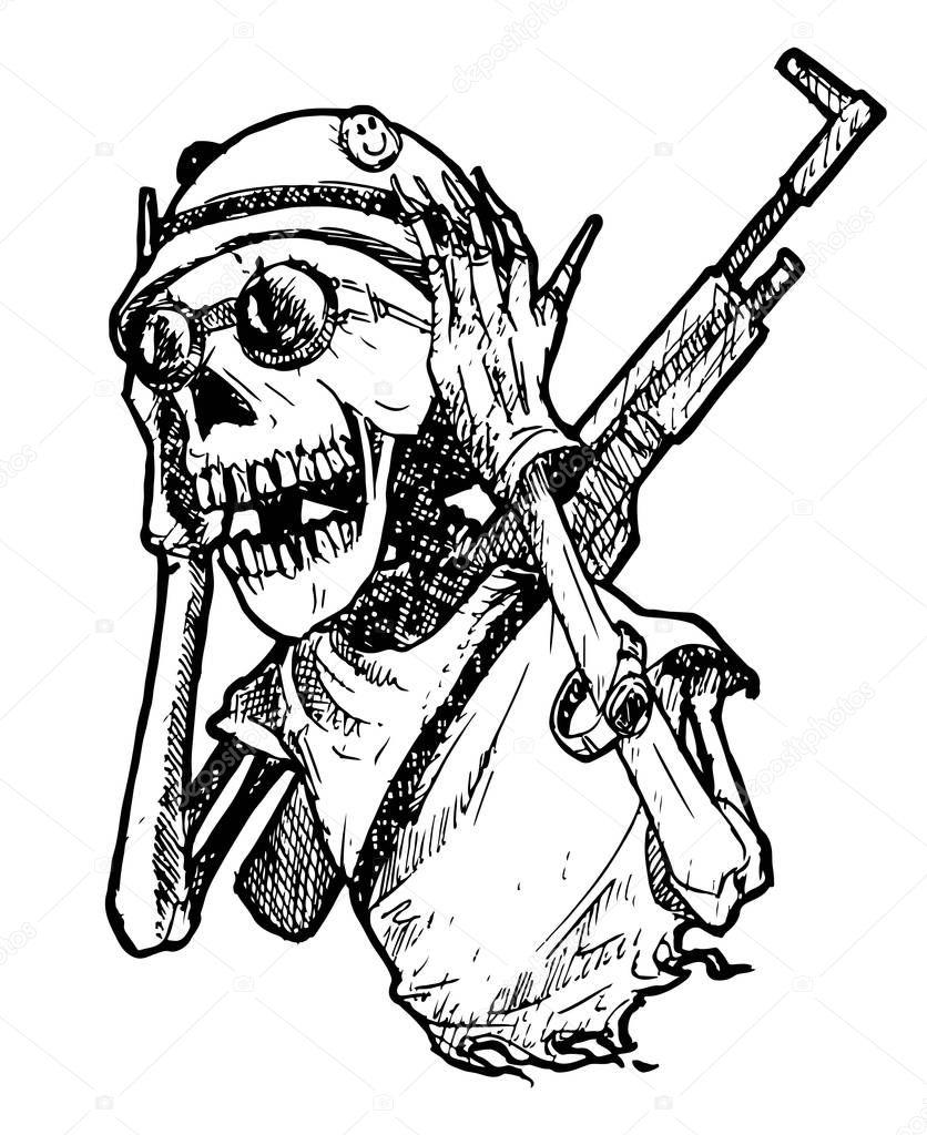 Младенцу открытки, картинки скелета в военной форме